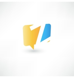 Abstract bubble icon based on the letter Z vector image