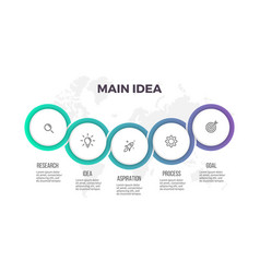 business infographics presentation with 5 circles vector image vector image