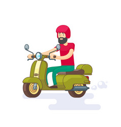 colorful moped template vector image
