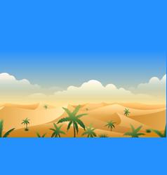 desert panorama horizontal seamless pattern vector image