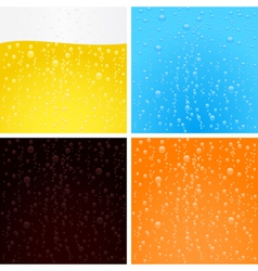 drinks backgrounds collection vector image vector image