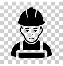 Glad worker icon vector