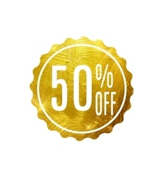 Golden Sale Label vector image vector image