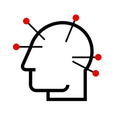 head acupuncture vector image