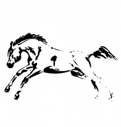 horse jumping vector image vector image