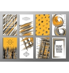 Template Set of creative universal cards Paint vector image