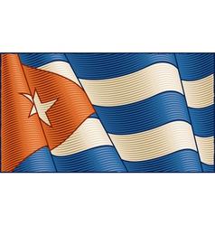 Vintage Cuban flag background vector image vector image