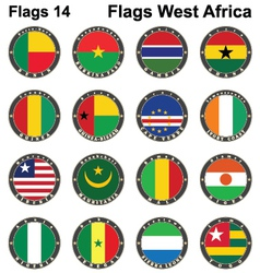World flags Western Africa vector image
