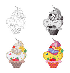 an image of a fantastic cake vector image vector image