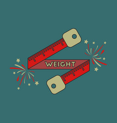 icon in flat design weight loss logo vector image