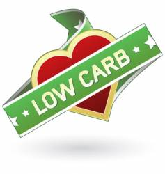 low carb food label vector image
