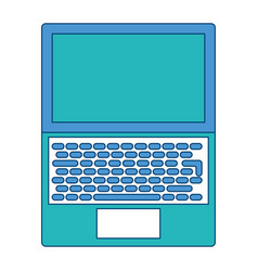 open laptop keyboard screen blank device vector image vector image