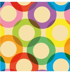 Pattern with colorful circles vector image vector image