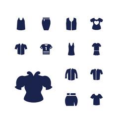 13 shirt icons vector
