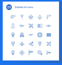 25 air icons vector