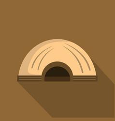 Aboriginal dwelling icon flat style vector