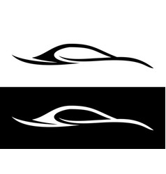 Abstract car shape black and white symbol vector