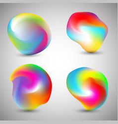 Abstract colourful shapes vector