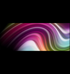 Abstract wave lines fluid rainbow style color vector