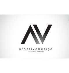 Av letter logo design creative icon modern vector