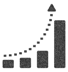 Bar Chart Positive Trend Grainy Texture Icon vector