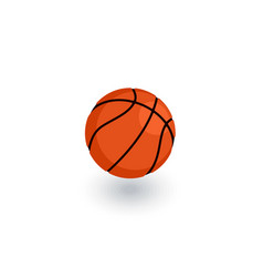 Basketball ball isometric flat icon 3d vector