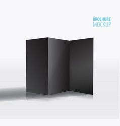 black brochure design isolated on greyrealistic vector image