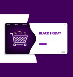 black friday landing page website template vector image