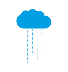 Blue cloud weather icon isolated vector