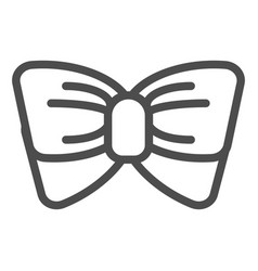 bow tie line icon knot vector image