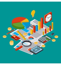 Business report financial statistic concept vector