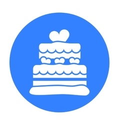 Cake icon in black style for web vector