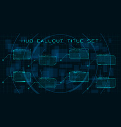 callout titles in hud style set futuristic vector image