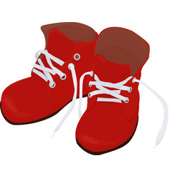 christmas cartoon red boots isolated on white vector image