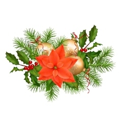 Christmas Holiday Garland vector image