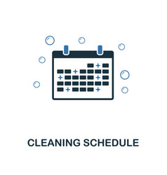 cleaning schedule icon creative two colors design vector image