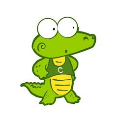 crocodile in cartoon style vector image