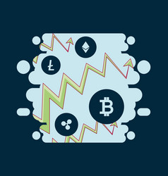 cryptocurrency design concept vector image