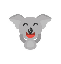 Cute koala animal character funny vector