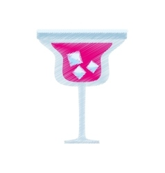 Drawing alcoholic cocktail popular bar vector