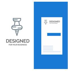 education pin marker grey logo design and vector image