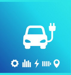 electric car ev clean transport icon vector image