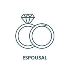 espousal line icon linear concept outline vector image