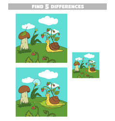 find differences forest snail vector image