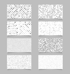 geometrical card background set - template designs vector image