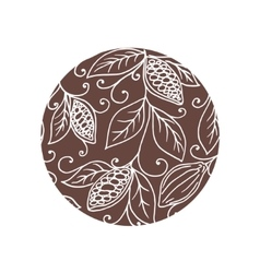 Hand drawing isolated cocoa beans vector image