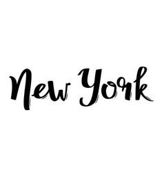 Handwritten city name new york calligraphic word vector