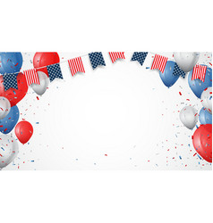Independence day of america with confetti vector