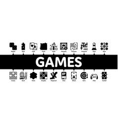 interactive kids games minimal infographic banner vector image