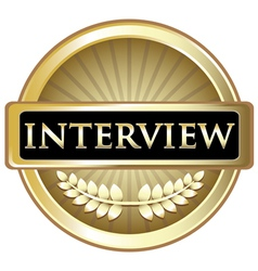 Interview Gold Label vector image